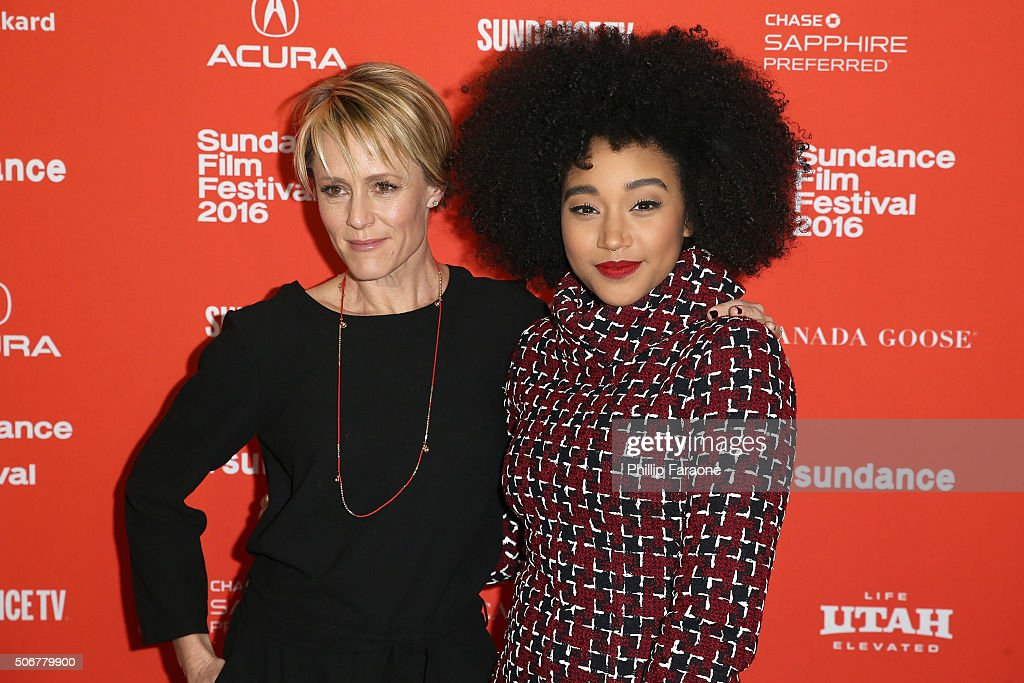 Actors Mary Stuart Masterson and Amandla Stenberg attend the 'As You Are' Premiere during the 2016 Sundance Film Festival at Library Center Theater on January 25, 2016 in Park City, Utah.