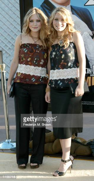 Actors MaryKate and Ashley Olsen attend the film premiere of Austin Powers in Goldmember on July 22 in Los Angeles California The film opens...