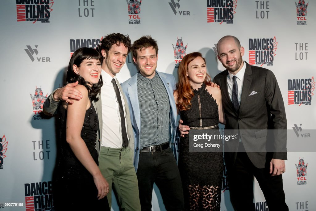 Actors Marzy Hart, Jay DeYonker and Ben Rappaport, Writer, Producer and Actress Stacey Maltin and Director Dani Tenenbaum attend the 'Landing Up' World Premiere during 20th Annual Dances With Films at TCL Chinese 6 Theatres on June 7, 2017 in Hollywood, California.