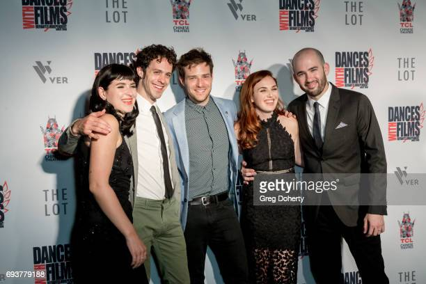 Actors Marzy Hart Jay DeYonker and Ben Rappaport Writer Producer and Actress Stacey Maltin and Director Dani Tenenbaum attend the Landing Up World...