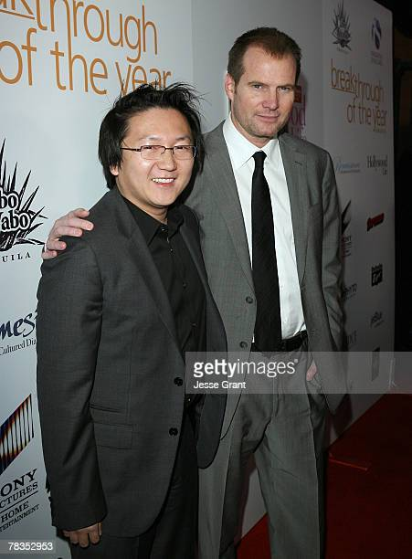 Actors Masi Oka and Jack Coleman arrive to the 7th annual Hollywood Life Breakthrough of the Year Awards at the Music Box at the Fonda on December 9,...