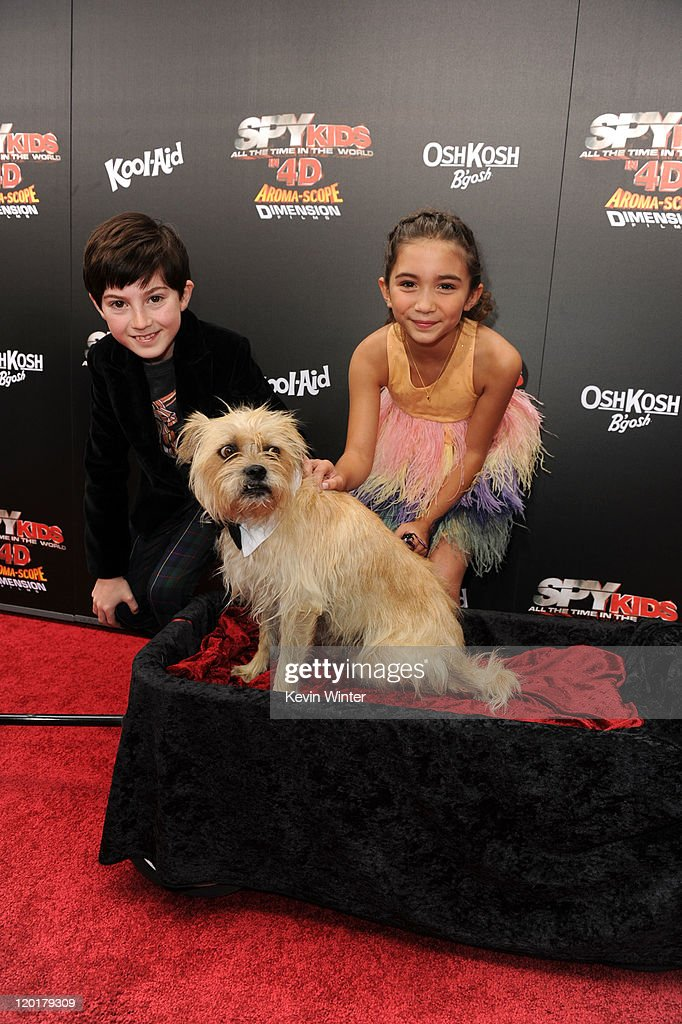 Actors Mason Cook And Rowan Blanchard With Elmo Arrive At