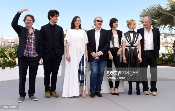 Actors Mathieu Amalric Louis Garrel Marion Cotillard director Arnaud Desplechin actors Charlotte Gainsbourg Alba Rohrwacher and Hippolyte Girardot...