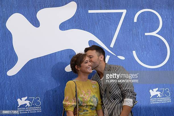 Actors Matilda Lutz and Taylor Frey pose during a photocall of the movie L'Estate Addosso presented out of competition at the 73rd Venice Film...