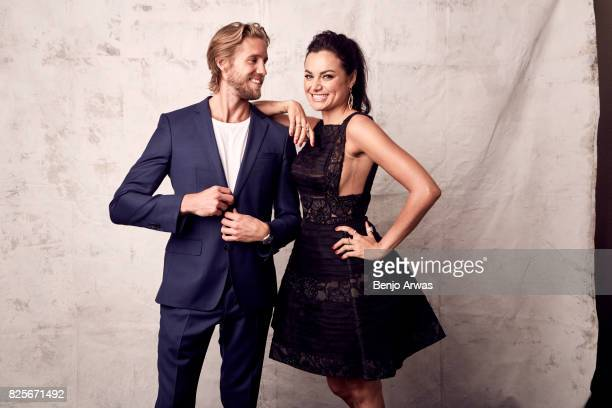 Actors Matt Barr and Christina Ochoa of CW's 'Valor' pose for a portrait during the 2017 Summer Television Critics Association Press Tour at The...