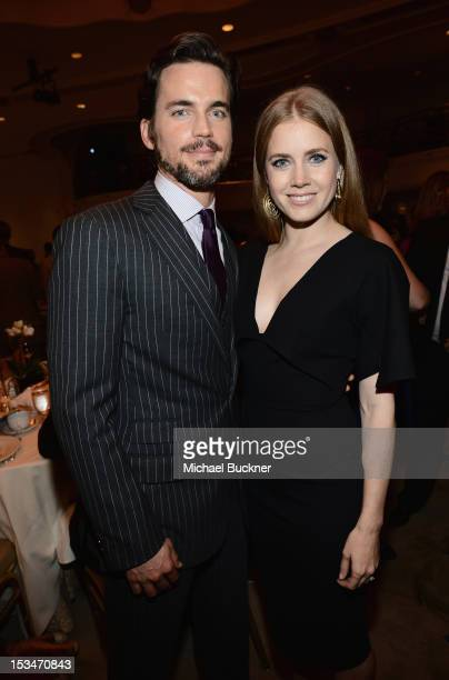Actors Matt Bomer and Amy Adams attend the 8th Annual GLSEN Respect Awards held at Beverly Hills Hotel on October 5 2012 in Beverly Hills California