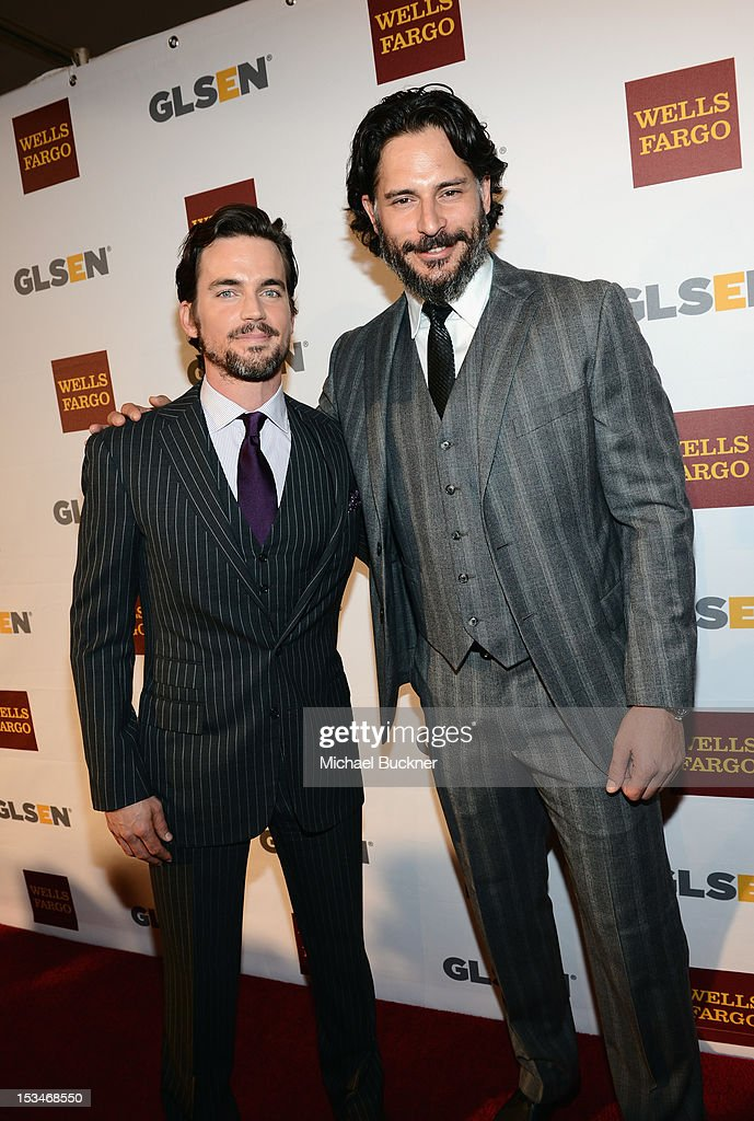 Actors Matt Bomer and Joe Manganiello arrive at the 8th Annual GLSEN Respect Awards held at Beverly Hills Hotel on October 5, 2012 in Beverly Hills, California.