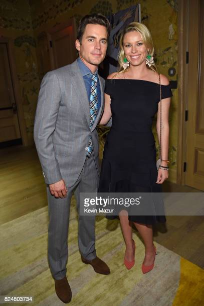 Actors Matt Bomer and Kiera Chaplin attend The Last Tycoon New York Special Screening VIP Reception at the Whitby Hotel on July 25 2017 in New York...