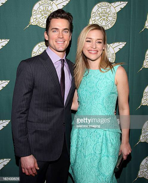 Actors Matt Bomer and Piper Perabo arrive at the 50th Annual ICG Publicists Awards which took place at The Beverly Hilton Hotel on February 22 2013...