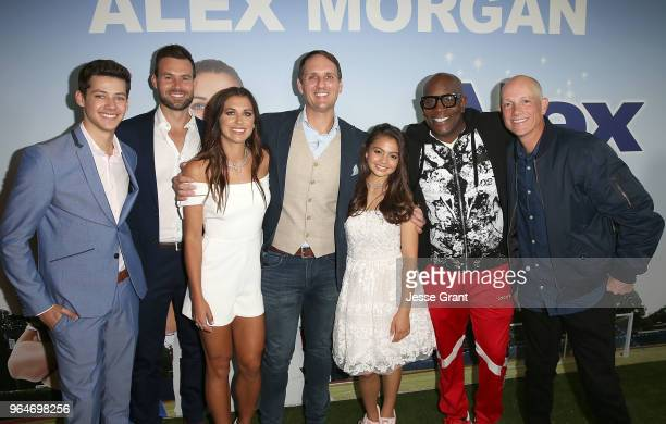 Actors Matt Cornett Andrew Rush professional soccer player Alex Morgan actors Jim Klock Siena Agudong James Moses Black and writer/director Eric...
