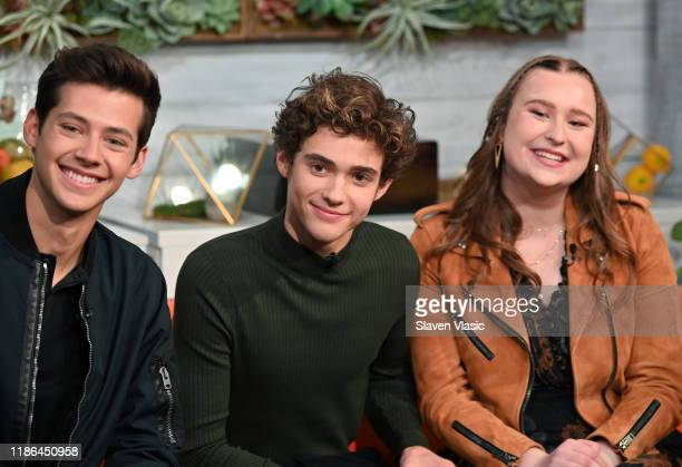 "Actors Matt Cornett, Joshua Bassett, and Julia Lester visit BuzzFeed's ""AM To DM"" to discuss Disney+ web television series ""High School Musical: The..."