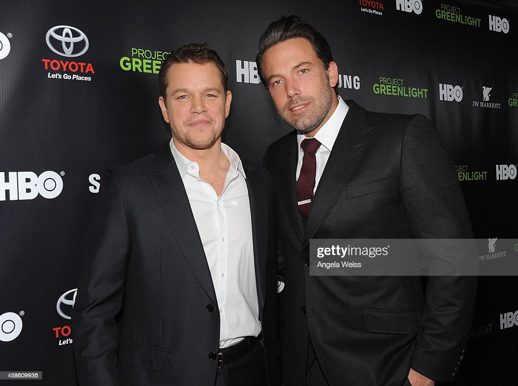 "Matt Damon, Ben Affleck And HBO Reveals Winner Of ""Project Greenlight"" Season 4 - Red Carpet : News Photo"