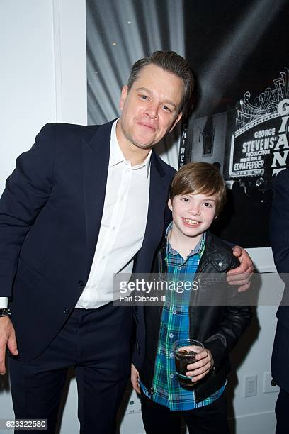 Actors Matt Damon and Ben O'Brian attend the Premiere Of Amazon Studios 'Manchester By The Sea' on November 14 2016 in Beverly Hills California