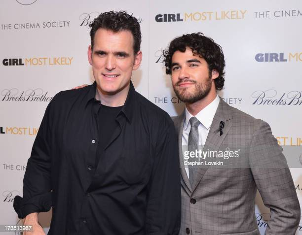 Actors Matt Dillon and Darren Criss attend the screening of Lionsgate and Roadside Attractions' 'Girl Most Likely' hosted by The Cinema Society...
