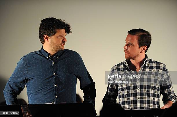 Actors Matt Jones and Michael Mosley participate in Sundance Institute Feature Film Program screenplay reading of Still at The Microsoft Lounge on...