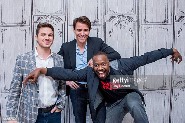 Actors Matt Lanter Goran Visnjic and Malcolm Barrett attend The Build Series to discuss Timeless at AOL HQ on October 10 2016 in New York City
