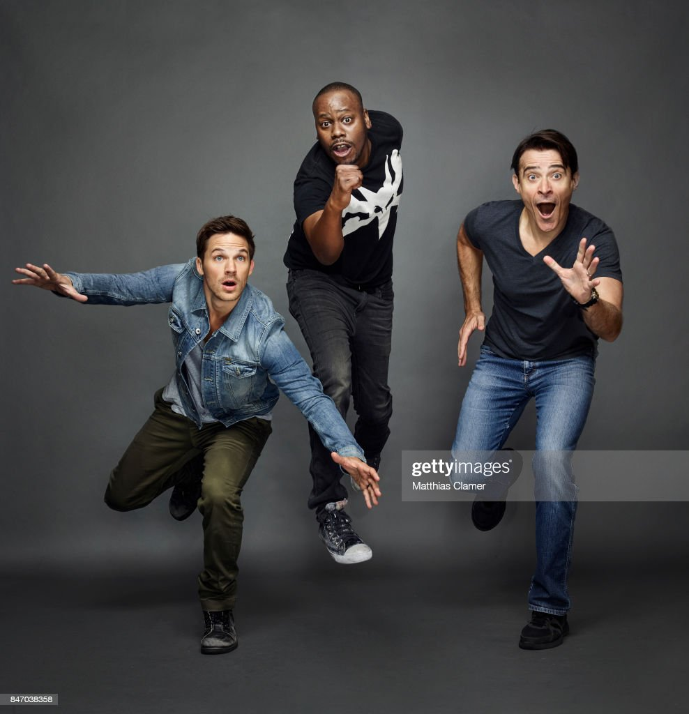 Actors Matt Lanter, Malcolm Barrett and Goran Visnjic from 'Timeless' are photographed for Entertainment Weekly Magazine on July 23, 2016 at Comic Con in the Hard Rock Hotel in San Diego, California. PUBLISHED