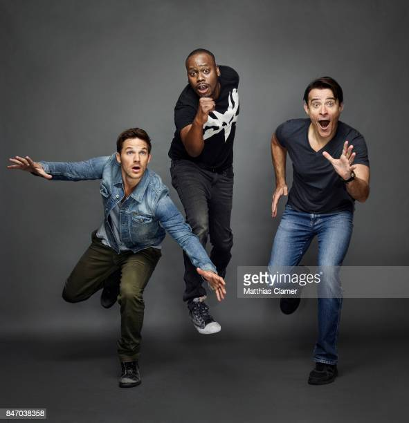 Actors Matt Lanter Malcolm Barrett and Goran Visnjic from 'Timeless' are photographed for Entertainment Weekly Magazine on July 23 2016 at Comic Con...