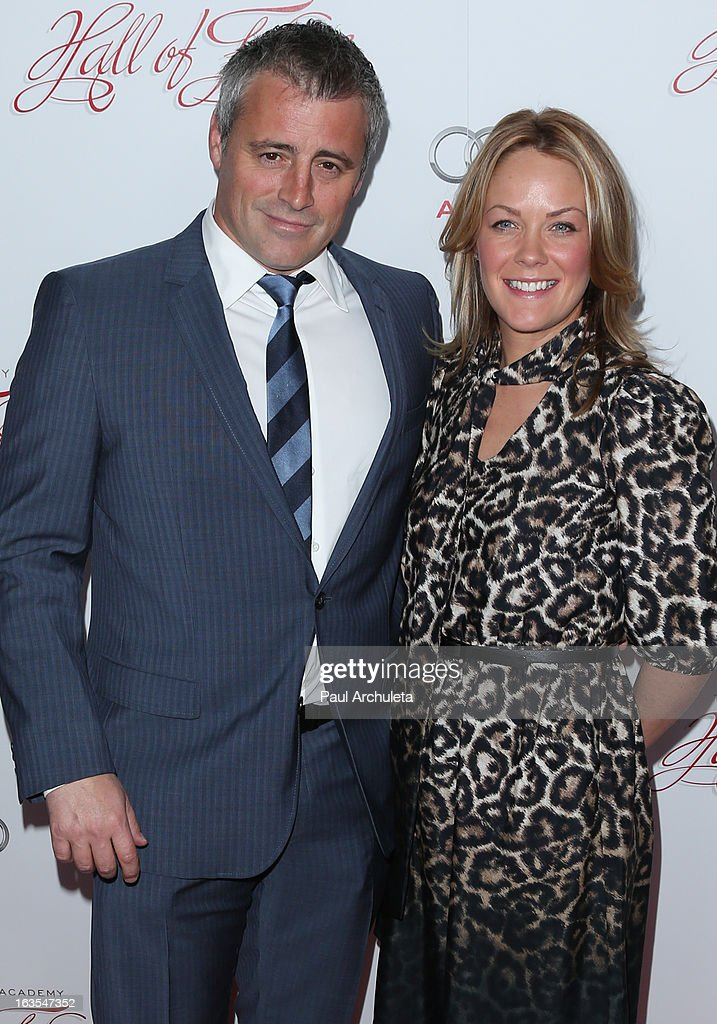 Actors Matt LeBlanc (L) and Andrea Anders (R) attend the Academy Of Television Arts & Sciences 22nd annual Hall Of Fame induction gala at The Beverly Hilton Hotel on March 11, 2013 in Beverly Hills, California.