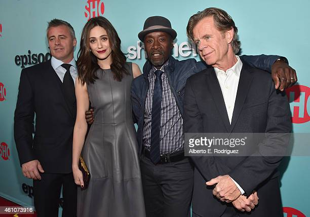 Actors Matt LeBlanc Emmy Rossum Don Cheadle and William H Macy arrive to Showtime's Celebration of AllNew Seasons Of Shameless House Of Lies And...