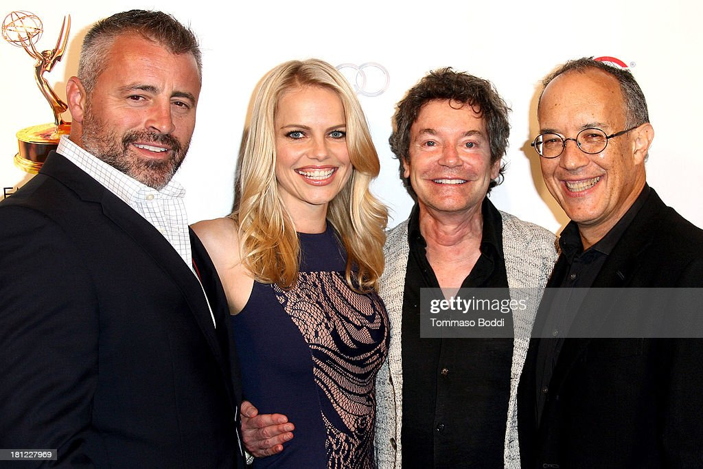 Actors Matt LeBlanc, Mircea Monroe, writer Jeffrey Klarik and producer David Crane attend the 65th Emmy Awards Writers Nominee reception held at the Leonard H. Goldenson Theatre on September 19, 2013 in North Hollywood, California.
