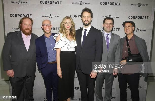 Actors Matt McCarthy Adam Lustick Anne Dudek executive producers Matt Ingebretson Jake Weisman and president of Comedy Central Kent Alterman attend...