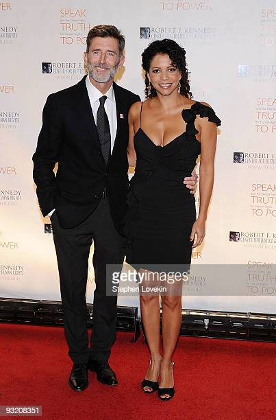Actors Matt McCoy and Gloria Reuben attend the RFK Center Ripple of Hope Awards dinner at Pier Sixty at Chelsea Piers on November 18 2009 in New York...