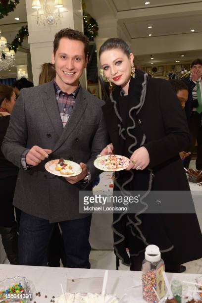 Actors Matt McGorry and Michelle Trachtenberg attend as Brooks Brothers celebrates the holidays with St. Jude Children's Research Hospital on...
