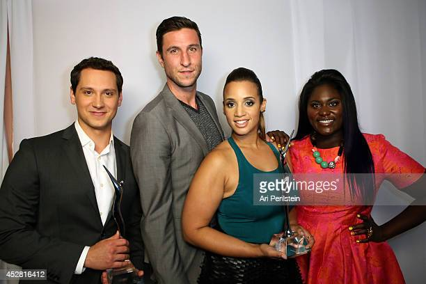 Actors Matt McGorry Pablo Schreiber Dascha Polanco and Danielle Brooks attend the 2014 Young Hollywood Awards brought to you by Samsung Galaxy at The...
