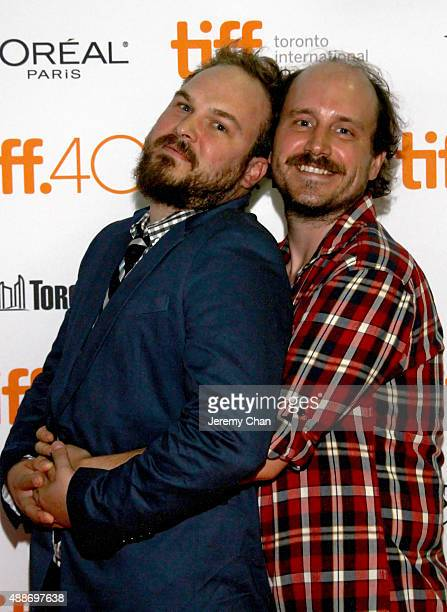 Actors Matt Peters and Davey Johnson attend the Southbound photo call during the 2015 Toronto International Film Festival at Ryerson Theatre on...