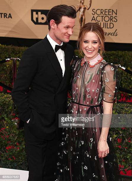 Actors Matt Smith and Claire Foy arrive at the 23rd Annual Screen Actors Guild Awards at The Shrine Expo Hall on January 29, 2017 in Los Angeles,...