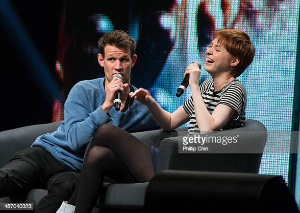 Actors Matt Smith and Karen Gillan share their experiences on 'Dr Who' in the 'Spotlight on Matt Smith and Karen Gillan' panel discussion at the...