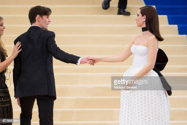 Actors Matt Smith and Lily James attend the 'Rei Kawakubo/Comme des Garcons Art Of The InBetween' Costume Institute Gala at Metropolitan Museum of...