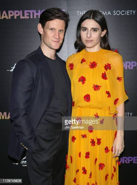 Actors Matt Smith and Marianne Rendon attend the special screening of Mapplethorpe hosted by Samuel Goldwyn Films with The Cinema Society at...