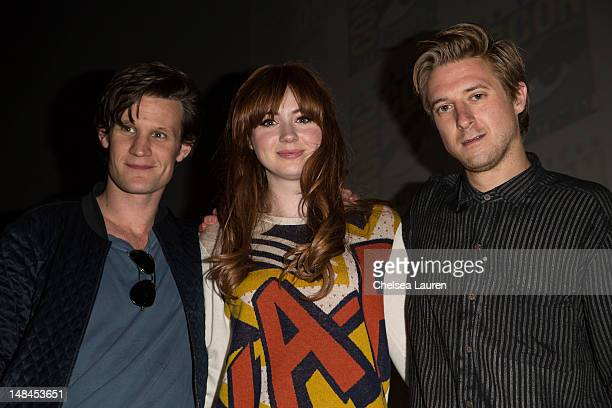 "Actors Matt Smith, Karen Gillan and Arthur Darvill attend the ""Doctor Who"" panel at Comic-Con International at San Diego Convention Center on July..."