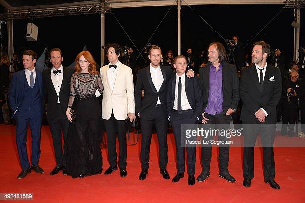 Actors Matt Smith Reda Kateb Christina Hendricks Geoffrey Arend Ryan Gosling Iain De Caestecker Benoit Debie and Adam Siegel attend the 'Lost River'...