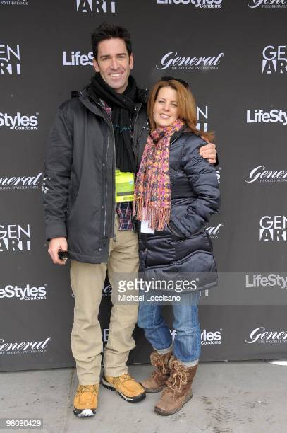 Actors Matt Walton and Alecia Hurst attend the GenArt Lounge Day 2 at The Sky Lodge on January 23 2010 in Park City Utah