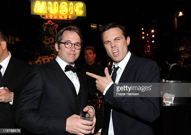 Actors Matthew Broderick and Casey Affleck attend the 39th AFI Life Achievement Award honoring Morgan Freeman after party held at Sony Pictures...