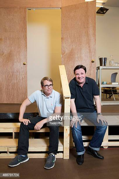 Actors Matthew Broderick and Nathan Lane are photographed for USA Today on August 18 2014 in New York City PUBLISHED IMAGE