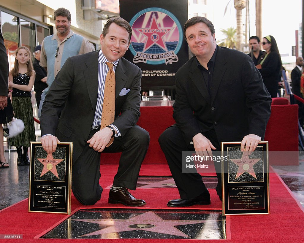 Broderick, Lane Receive Stars On Walk Of  Fame : News Photo