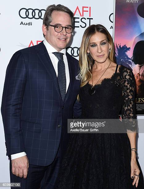 Actors Matthew Broderick and Sarah Jessica Parker arrive at AFI FEST 2016 Presented by Audi Opening Night Premiere of 20th Century Fox's 'Rules Don't...