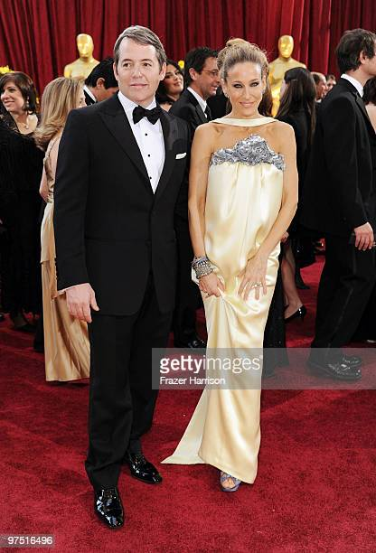 Actors Matthew Broderick and Sarah Jessica Parker arrive at the 82nd Annual Academy Awards held at Kodak Theatre on March 7, 2010 in Hollywood,...