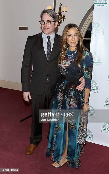 Actors Matthew Broderick and Sarah Jessica Parker attend the Irish Repertory Theatre's YEATS: The Celebration at Town Hall on June 8, 2015 in New...