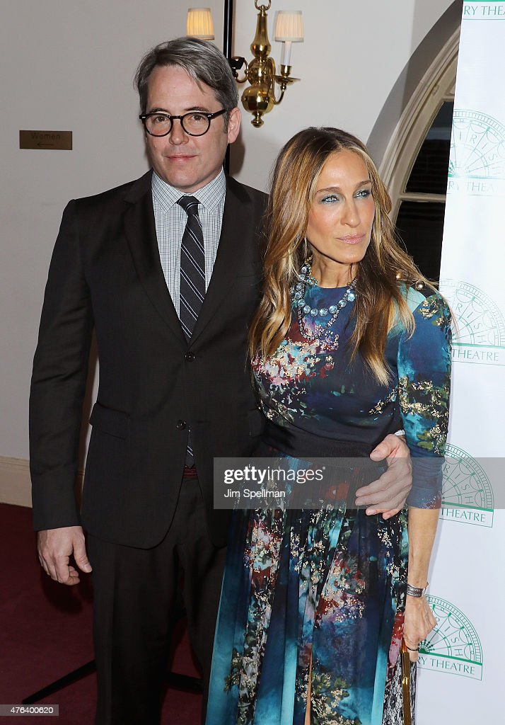 Actors Matthew Broderick and Sarah Jessica Parker attend the Irish Repertory Theatre's