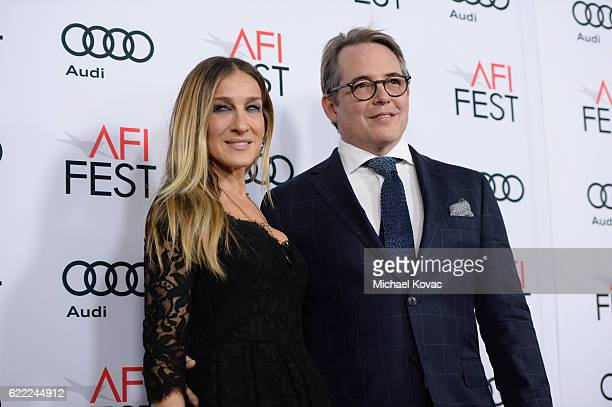 """Actors Matthew Broderick and Sarah Jessica Parker attend the premiere of """"Rules Don't Apply"""" at AFI Fest 2016, presented by Audi at TCL Chinese..."""
