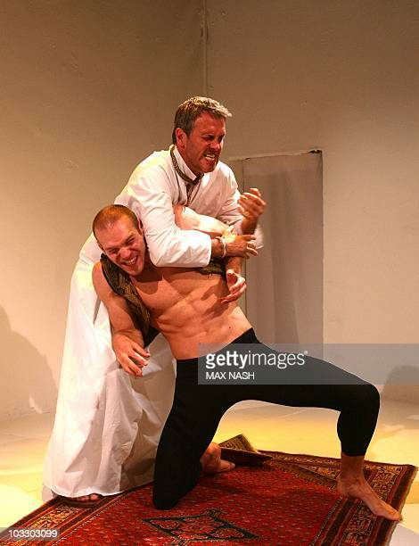 Actors Matthew Clancy and Mark Frost perform in Pharaoh And Moses one of four acts from Steven Berkoff's ' Biblical Tales' an adaptation of four Old...