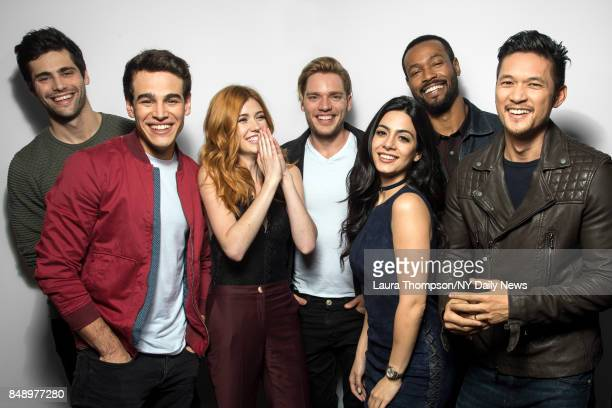Actors Matthew Daddario Alberto Rosende Katherine McNamara Dominic Sherwood Emeraude Toubia Isaiah Mustafa and Harry Shum Jr of Shadowhunters The...