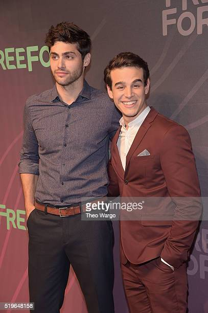 Actors Matthew Daddario and Alberto Rosende attend 2016 ABC Freeform Upfront at Spring Studios on April 7 2016 in New York City