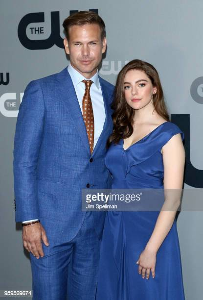 Actors Matthew Davis and Danielle Rose Russell attend the 2018 CW Network Upfront at The London Hotel on May 17 2018 in New York City