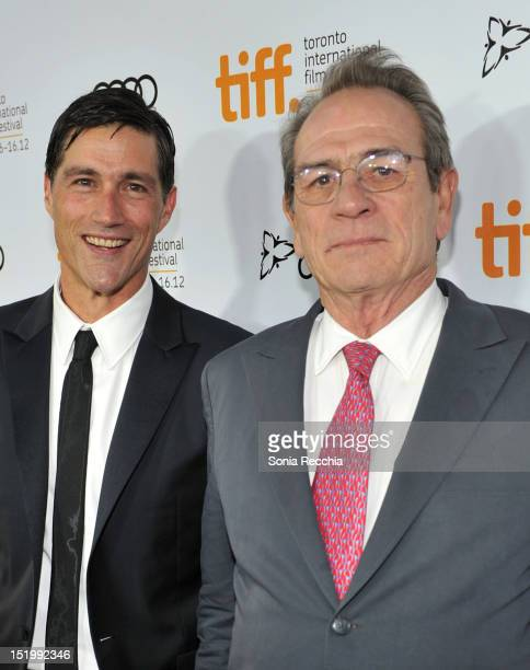 Actors Matthew Fox and Tommy Lee Jones attend 'Emperor' premiere during the 2012 Toronto International Film Festival at Roy Thomson Hall on September...